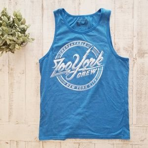 Zoo York Logo Print Tank Top Men's Blue